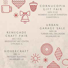 Our holiday show schedule starts this weekend! We'll be all over Milwaukee and Chicago over the next four weeks - check the schedule above or through the link in our profile and make some time to come see us. We'll have everything you need to give the best gifts this year (don't tell Santa!)