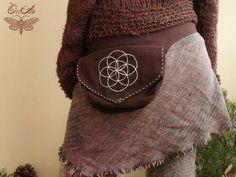 Seed of life hip bag belt bag sacred geometry by OrianCrafts, €50.00  belt bag, sacred geometry, flower of life, boho, earthy, hip bag, festival bag, hippy, bohemian, rustic