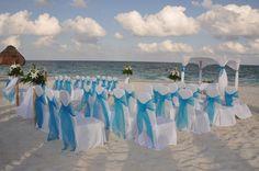 Ocean Coral & Turquesa, Puerto Morelos, Mexico - Beach Wedding Ceremony