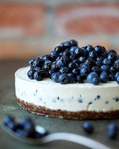 Lemon And Blueberry Cashew Cheesecake via @feedfeed on https://thefeedfeed.com/cheesecake/datesandavocados/lemon-and-blueberry-cashew-cheesecake