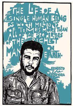 """Ernesto Che Guevara"" - Card by Ricardo Levins Morales Palestine History, Palestine Art, Political Posters, Political Quotes, Che Quotes, Che Guevara Photos, Revolution Poster, Cuba History, Ernesto Che Guevara"