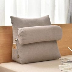 Gorgeous adjustable backrest pillow in washed cotton fabric, skin-friendly, super soft, comfortable and breathable for a relaxing experience. This beige colour represents the Feng Shui element of Earth. Found this on Amazon UAE for you. Available in different colours. #ad #fengshui #wellness #wealth #health