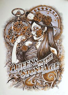 Queens of the Stone Age - Johan Jaccob - 2013 Festival Posters, Concert Posters, Gig Poster, Tour Posters, Band Posters, Stoner Art, Stoner Rock, Rock And Roll, Music Artwork