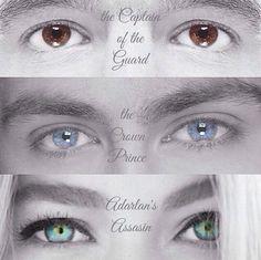 Chaol, Dorian, y Celaena_ Trono de Cristal
