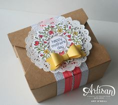 Stampin' Up's Takeout Boxes make it easy to decorate a gift for Mother's Day. -- Amy O'Neill