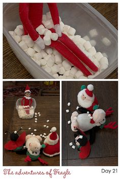 TONS of Elf on the Shelf ideas - flickr photos!  (k u need to see this!) I love this. If you have an Elf in your house during the holidays, this is a MUST SEE!    @Amy Macalaguim @Amy Stagi Bernwanger @Cecil Bernwanger