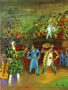 Clowns and Musicians - Raoul Dufy - WikiPaintings.org