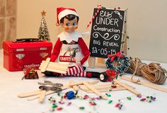 DAY 4: What is John the Elf busy building? Stay tuned to find out! TO BE CONTINUED... #ElfOnTheShelf #amywelsh18