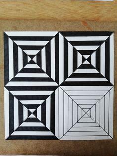Illusion Kunst, Illusion Art, 3d Art Drawing, Art Drawings Sketches Simple, Hand Art Kids, Op Art Lessons, Graph Paper Art, Mandala Art Lesson, Dot Art Painting