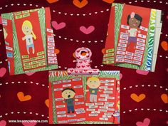 """Cute activitiy around Valentine's Day to share the positive """"inside and outside"""" qualities that we notice about each other after reading Stand Tall Molly Lou Mellon or Marvelous Me."""