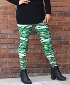 Look what I found on #zulily! Green Geometric Leggings - Women & Plus #zulilyfinds