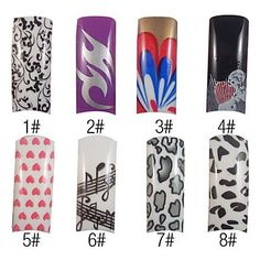Kaifina 70 Pcs Full Cover Pretty French Acrylic Nails Tips 8 Colors Available -- You can find more details by visiting the image link.