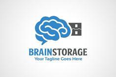 Brain Storage Logo by gunaonedesign on @creativemarket