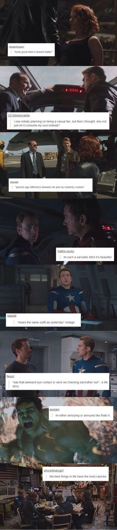Status Update Avengers. I AM EVERY ONE OF THESE.