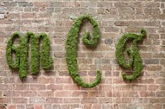 mossy chic monograms  Photography By http://thestudiobphotographyblog.com