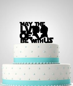 Star Wars Inspired Wedding Cake Topper. May the by KimeeKouture