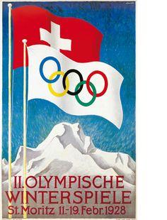 Moritz 1928 Olympics on Stamps Vintage Ski Posters, Art Deco Posters, Vintage Ads, Katarina Witt, Switzerland Tourism, Japanese Poster Design, Winter Games, Ad Art, Winter Olympics