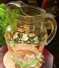 Vintage Pitcher and 5 Glasses