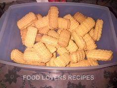 Foodlovers Recipes   KOOKMELK KOEKIES Baking Recipes, Cookie Recipes, Dessert Recipes, Desserts, Custard Cookies, Biscuit Cookies, South African Recipes, Specialty Foods, Cheap Meals
