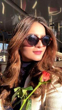 Round Sunglasses, Mirrored Sunglasses, Aiman Khan, Celebs, Celebrities, Pants Outfit, Pakistani, Actors & Actresses, Lifestyle
