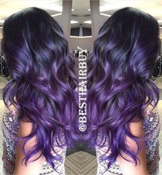 Everyday Introduce–♥The 1B/Purple Ombre hair, I love this color, it is so cool and special!♥