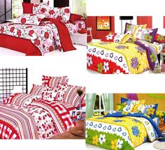 Buy  4 Double Bedsheet with 8 Pillow Covers @ 1399