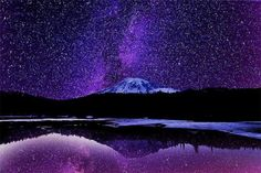 Milky Way Rising Over Mt Rainier. #Wallpapers #MtRainier