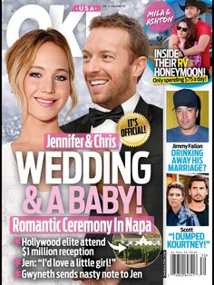 Jennifer Lawrence and Chris Martin Wedding and a Baby: Couple Getting Married, Trying to Get Pregnant? (PHOTO)