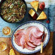 Slow Cooker Recipes for New Year's Celebrations: Good Luck Greens and Peas with Ham