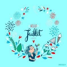 Mathou (@mathouchou) HELLO JUILLET ➡ Bonjour joli mois de juillet.