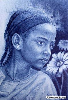 African Artists' paintings for sale. An online gallery, we sell new, original African paintings artwork and their prints from 85 artists in 12 countries inside Africa. Biro Art, Ballpoint Pen Art, Realistic Pencil Drawings, Hyper Realistic Paintings, African Paintings For Sale, Stippling Art, Africa Art, African Artists, African American Art