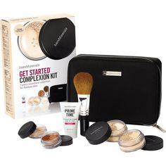 BARE MINERALS Get Started Complexion Kit (€54) ❤ liked on Polyvore featuring beauty products, gift sets & kits, fairly light, facial brush, craft kits, bare escentuals kit, face brush and bare escentuals