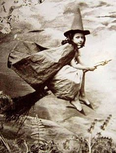 Vintage photo - child witch