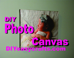 See just how easy it is to transfer any photograph or image to canvas. DIY Easy Crafts mod podge photo canvas transfer technique makes this carft fun and easy.