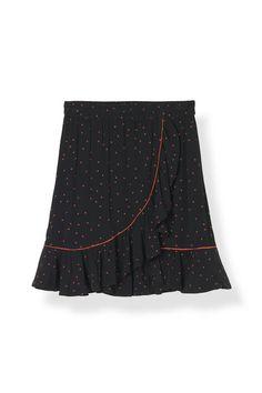 Emory Crepe Skirt, Black