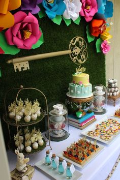Close-up of Details from an Alice In Wonderland Dessert Table via Kara's Party Ideas | KarasPartyIdeas.com (21)