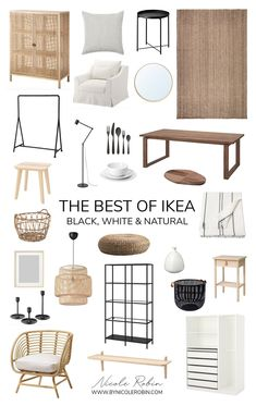 The Best of Ikea: Black White & Natural Pieces That Look Expensive #ikea #boho #lamp #ikeaboholamp Boho Living Room, Home And Living, Living Spaces, Small Living, Living Room Decor Ikea, Modern Living, Ikea Home, My New Room, Home Decor Inspiration