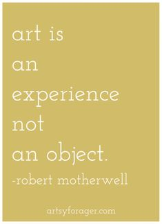 YES! The object is the artifact of the experience