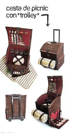 CESTA DE PINIC CON TROLLEY ( picnic basket) #picnic