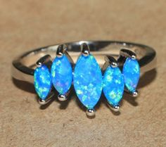 blue-fire-opal-ring-gemstone-silver-jewelry-size-7-5-modern-abstract-cocktail-VV