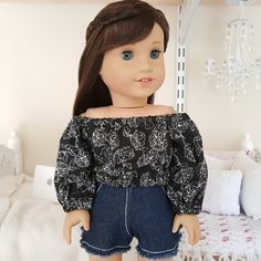 18 inch doll peasant blouse by SewCuteForever on Etsy