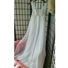 Stunning vintage white lace nightgown long medium This is my all time favorite nightgown Ive sold its stunning  Vintage stunning white nightgown sz m floor length Multi layered lace top sheer details great bridal nightgown  No visable signs of wear  Smoke free closet Vintage  Intimates & Sleepwear Chemises & Slips