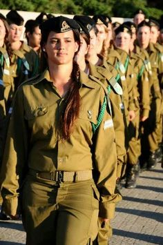 Women warriors of the Israeli Defense Force.