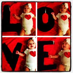 Baby's First Valentine's Day Photo
