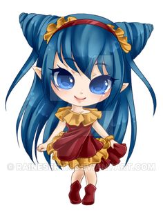Chibi commission for of her OC Neoxia. She already had a super cute design so I didn't change it much. But I got to pick the colors. >w< Sorry I've been kinda slow lately guys. ;___; I've got...