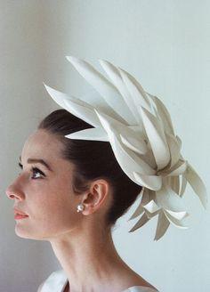 Audrey in a Givenchy hat - her favorite designer!