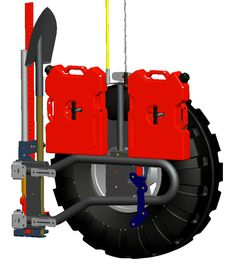 The High Double RotoPax and Pack is a secure way to bring along your RotoPax on the trail. This versatile design allows for different loading requirements and configurations and has interchangeable Jerry can mounts. Lifted Ford Trucks, 4x4 Trucks, Diesel Trucks, Ford Diesel, Lifted Jeeps, Jeep Cj7, Jeep Wrangler, Jeep Jeep, Accessoires Jeep