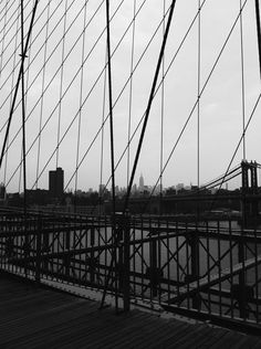 empire state building from the brooklyn bridge