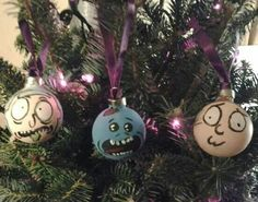 This was a Yule craft made by Tonie Ervin. It was later shared by the Rick and Morty fan page. YAY TONIE!! :)