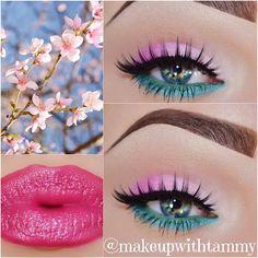 Urban Decay - Naked and Peace. Eye Pencil: Urban Decay - Electric and NYX Cosmetics Green Papaya. masquerade_cosmetics 5 color eyeshadow palette in Warm. twentysix20 Twirl eyeshadow. NYX Cosmetics hot singles eyeshadow in Pink Lady. masquerade_cosmetics Precision eyeliner pen False Lashes: ohmylashx Desiree Lip Recipe: Lip Liner: NYX Cosmetics Deep Red Lipstick: masquerade_cosmetics # 78 and Mac - Smash Hit on top. Brows: Mac - Dipdown fluidline and Cork eyeshadow. - makeupwithtammy